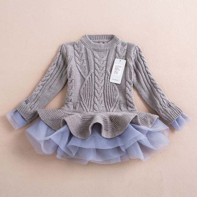 fb55bdc07 Online Shop 2016 New Baby Girls Christmas sweater Dress Costume ...