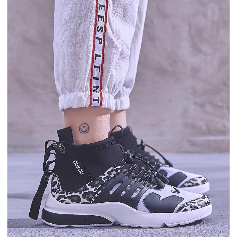 Ayakk.'ten Vulkanize Kadın Ayakkabıları'de Dumoo Yeni 2019 Sneakers Ayakkabı Kadın Moda Bayanlar Lycra koşu ayakkabıları Topuk 5cm Kadın Zapatillas Mujer Casual Eğitmenler'da  Grup 1
