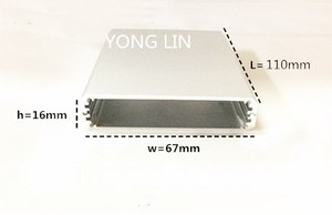 1 шт. алюминиевая коробка/алюминиевый корпус abs 67 * 16-110мм. Алюминиевый распределительный корпус алюминиевая коробка электроники