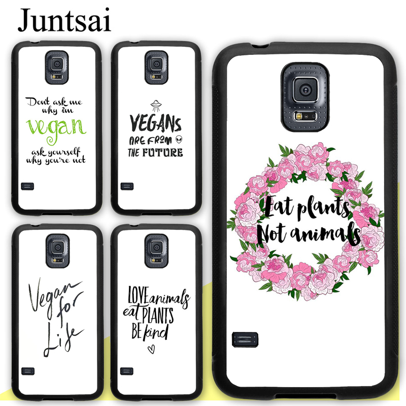 juntsai vegetarian vegan quotes case for samsung galaxy s s s