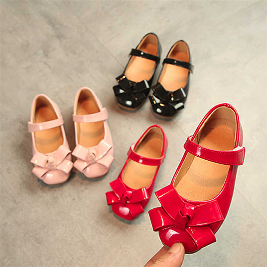 2019 Baby Girls Bowknot Sandals Sneaker Toddler Children Soft Casual Single Shoes