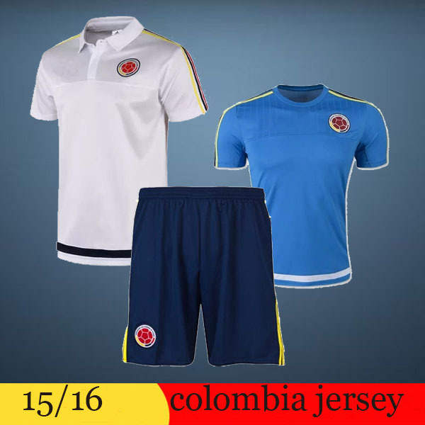 detailed look e41cb 95e11 € 10.7 |JAMES RODRIGUEZ Colombia football polo shirts 15 16 A+++ Top thai  colombia white soccer polo shirts FALCAO colombia T shirts dans Football ...