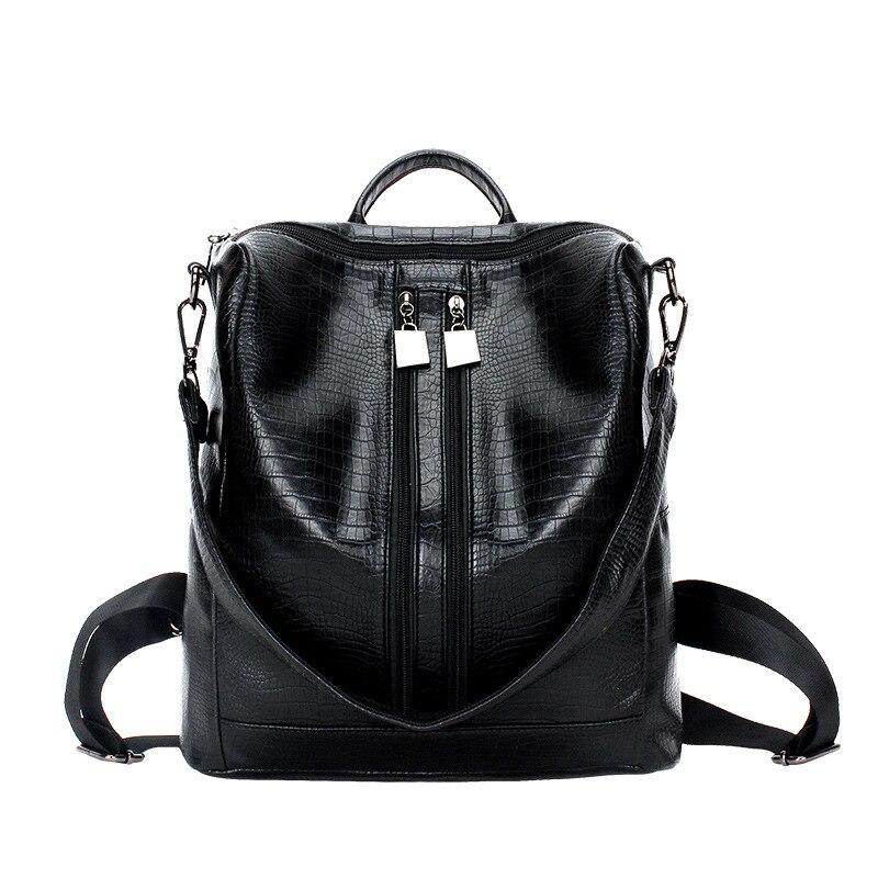 2019 새로운 여성 배낭 레이디 걸스 여행 Blosas 여성 가방 가죽 배낭 리벳 배낭 학생 학교 가방 고품질