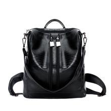 2019 New Women Backpacks Lady Girls Travel Blosas Women Bags Leather Backpacks Rivet Backpacks Student School Bag High Quality