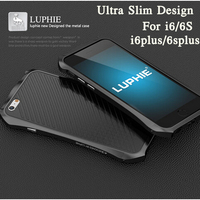 Luxury Brand Luphie Aluminum Metal Frame Strip Case For Apple IPhone 6 6S 6 Plus 6S