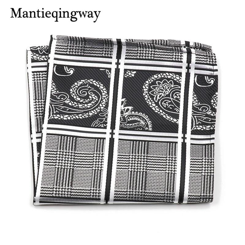 Mantieqingway Vintage Paisley Floral Polyester Yarn Chest Towel Pocket Square Hanky Handkerchiefs For Men Suit Hankies Hanky