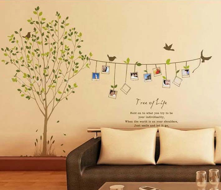 Nice 1 Pieces DIY Tree Photo Frame Birds/REMOVABLE Wall Stickers/Home Decor/Art  Vinyl Decals Size: 60*90cm In Wall Stickers From Home U0026 Garden On  Aliexpress.com ...