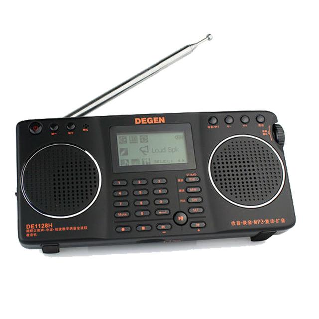 ¡ Venta caliente! FM MW SW Degen DE1128H Radio 4 GB 8 en 1 Portátil Multifuncional Led Inteligente DSP Receptor de Radio Estéreo Mini Radio