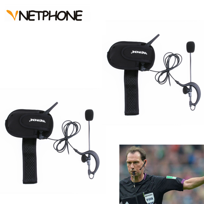 Vnetphone V6C 1200 M en temps réel en Duplex intégral Bluetooth interphone casque football arbitre casques BT Interphones 2 utilisateurs parler Max 6Use