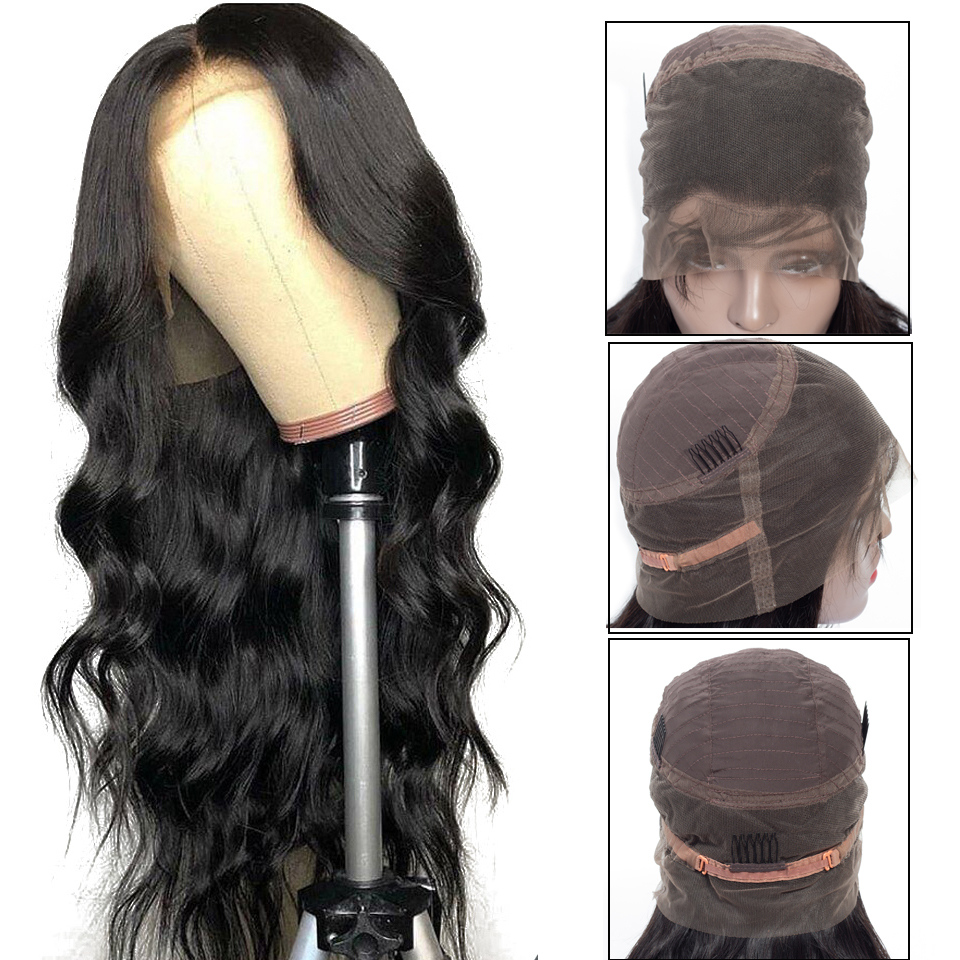 Brazilian Body Wave 360 Lace Frontal Wig for Black Women Remy Human Hair Wigs With Baby