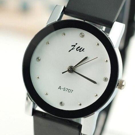 Fashion Jw Brand Casual Student Quartz Women Men Unsex Clock Leather Strap Sports Watch Lover Wristwatches Relogio Masculino
