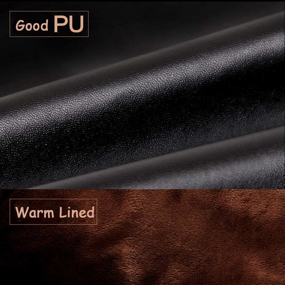 PU Leather Gloves Male Autumn Winter Plus Velvet Thicken Keep Warm Driving Windproof Synthetic Leather Man Gloves PM008PC in Men 39 s Gloves from Apparel Accessories
