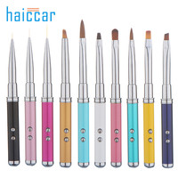 High Quality HAICAR 10pcs Pro Manicure Brush Nail Art Tips Crystal Acrylic Drawing Polish laser Pen touch screen Pretty New