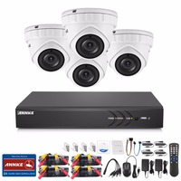 ANNKE 4CH 3MP HD CCTV Security Camera System And 4pcs 2048 1536 TVI Weatherproof Outdoor CCTV
