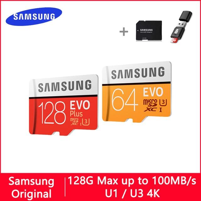 SAMSUNG EVO PLUS Micro SD 128 GB 32 GB 64 GB 256 GB 512 GB U1 U3 Micro SD Thẻ Nhớ 32 64 128 GB Thẻ SD/TF MicroSD cho Điện Thoại