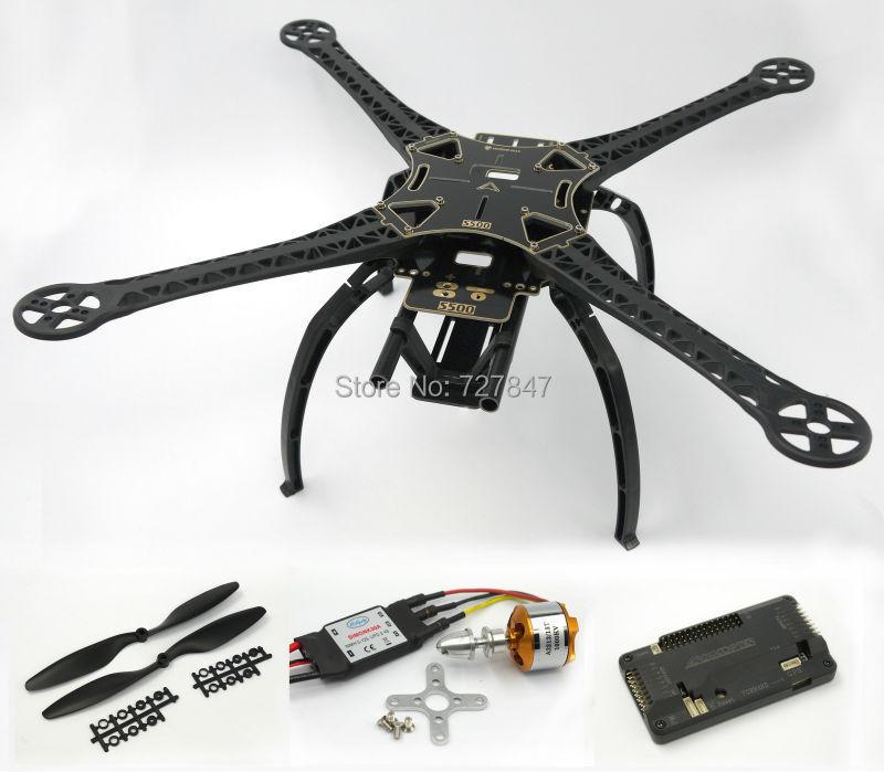 S500 Quadcopter Frame Kit (Black ) W/ APM2.6 Flight Controller XXD 2212 1000kv Motor 30A Simonk qav210 quadcopter frame kit cc3d flight