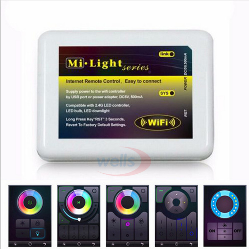 2.4G 4-Zone Mi Light Wireless RF Wireless single/RGB/RGBW LED Controller Dimmer for For 5050 3528 RGBW Led Strip Light bulb la dc12 24v mi light wireless 10a 2 4g 4 zone rf wireless rgbw led remote wifi controller dimmer for 5050 3528 led strip light bulb