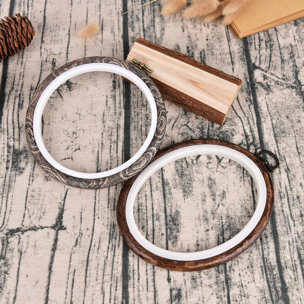 Image 2 - 12 29cm Practical Embroidery Hoops Frame Set Bamboo Wooden Embroidery Hoop Rings for DIY Cross Stitch Needle Craft Tools-in Sewing Tools & Accessory from Home & Garden