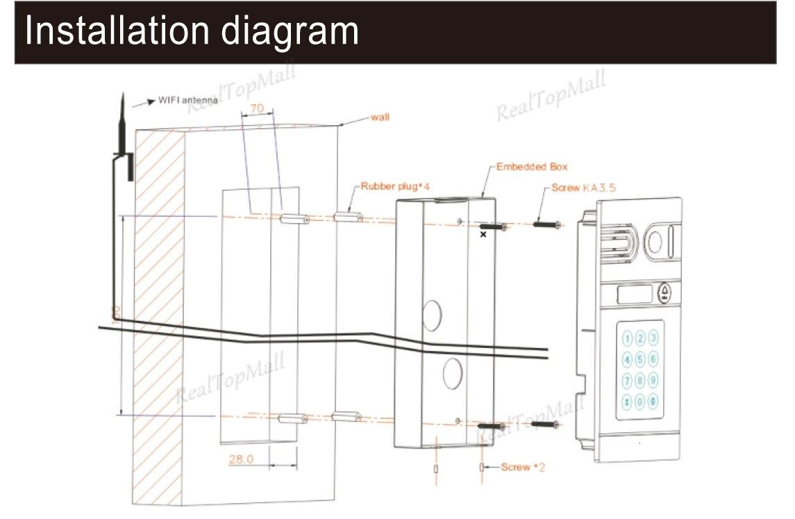 Remote Monitor Fingerprint Wifi Video Door Phone Doorbell Wireless Wiring Diagram Ip Hd Camera Intercom System Installation