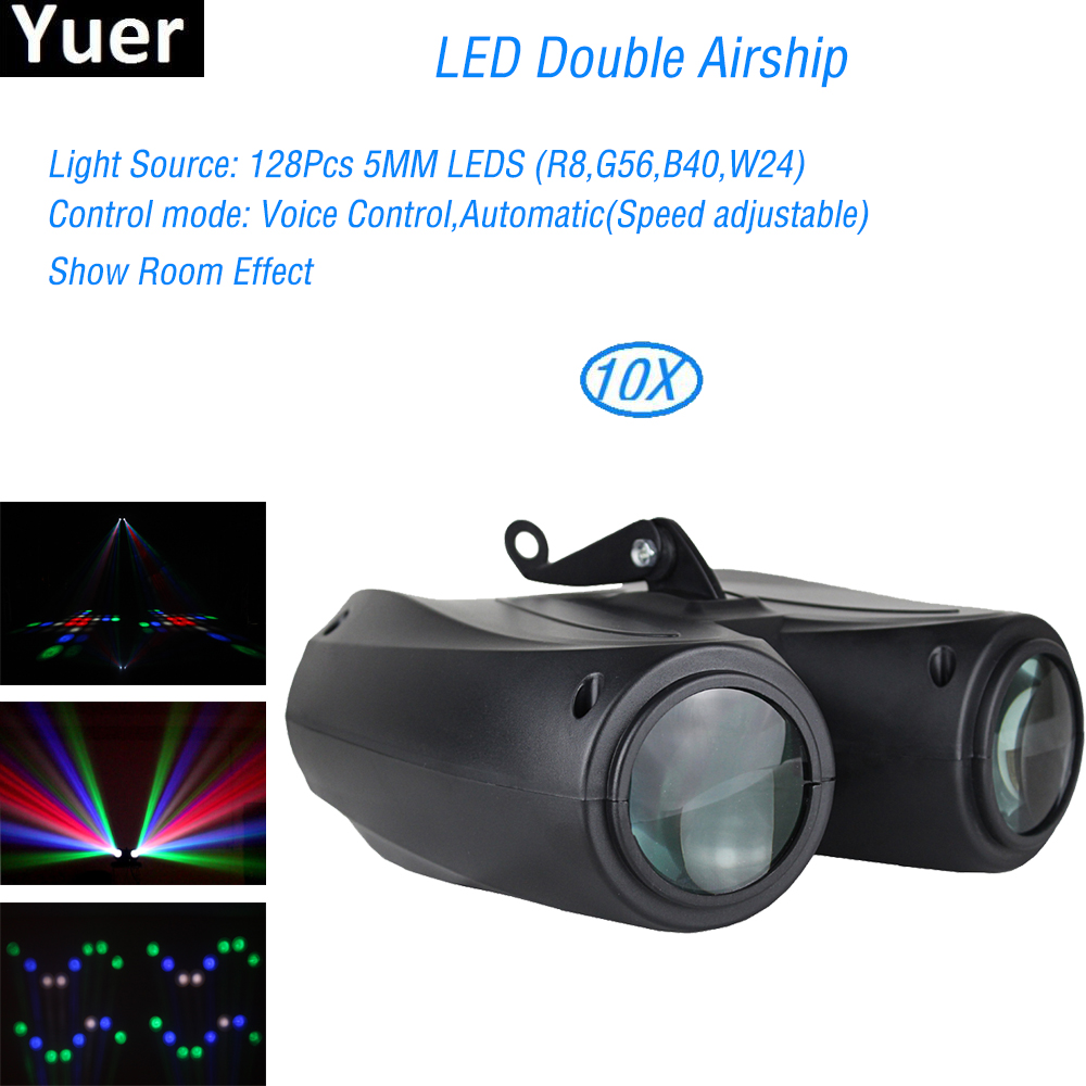 LED Double Laser effet de scène lumière nuit lumière musique contrôle sonore 128 RGBW Disco DJ fête Bar mariage professionnel fée lumière