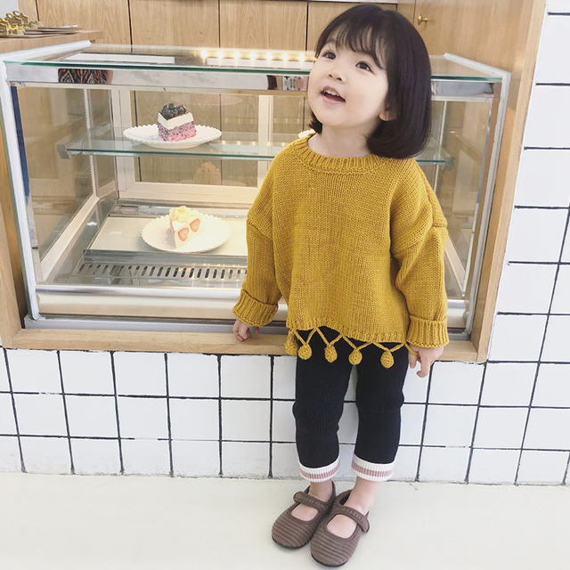 ea9bcd190d87 2019 Spring Baby Girl Sweater Knitted Pullover Clothes Handmade ...