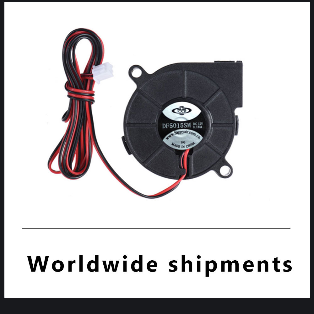 5pcs 50mm  DC 12V Blower Cooling Fan 50x15mm Reprap 3D Printer Extruder Cooler
