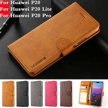 For Huawei P20 Lite Case Leather Wallet Phone Case For Huawei P20 Pro Case Luxury Flip Leather Cover For Huawei P20 Plus Nova 3E(China)