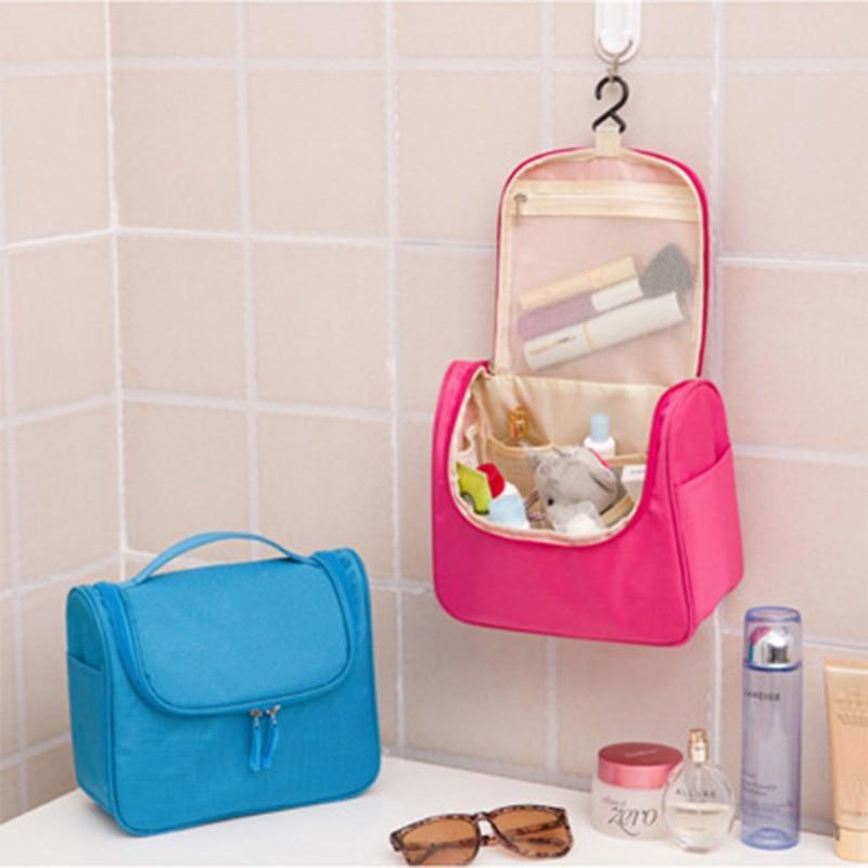 Waterproof hanging hook wash bag cosmetic Women toilet organizer Portable bathtub