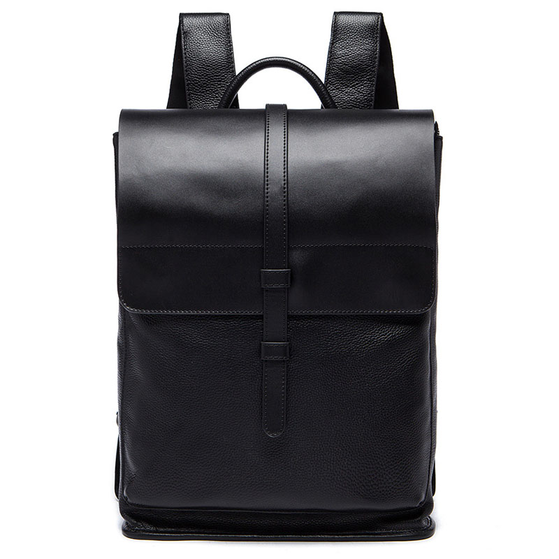 Fashion Men Travel Bags Top High Quality Genuine Leather Backpack School Bag Brand Design Back bag Black Mochila G049 high quality authentic famous polo golf double clothing bag men travel golf shoes bag custom handbag large capacity45 26 34 cm