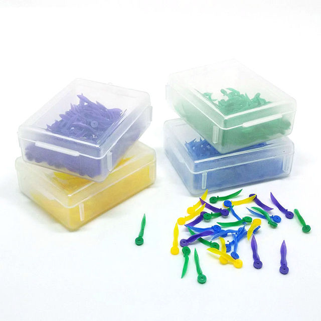 400pcs Dental disposable Plastic Wedge With Hole All 4 sizes wave shape Wedge