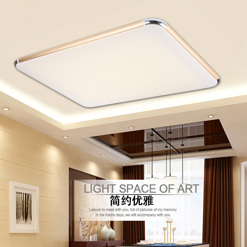 ФОТО surface mounted modern ceiling lights living room kitchen light home led lighting fixtures acrylic design luminaire lamp