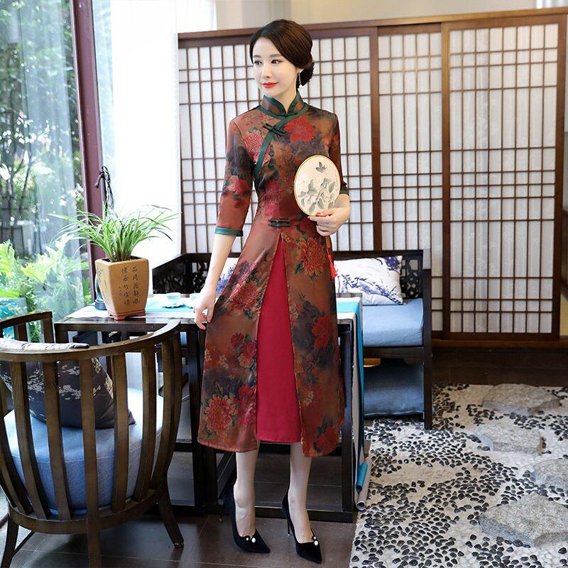 L Xxl 223 Robe M 222 Chinois Rayonne Mode De Long Robes Taille Femmes Top S Xxxl Cheongsam Femme Qipao Xl Vente Nouveauté 19382 ZOkuPXiT