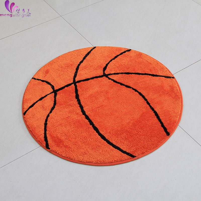 90CM Round Cartoon Basketball Carpets For Living Room Kids Bedroom Rugs And  Carpets Computer Chair Area