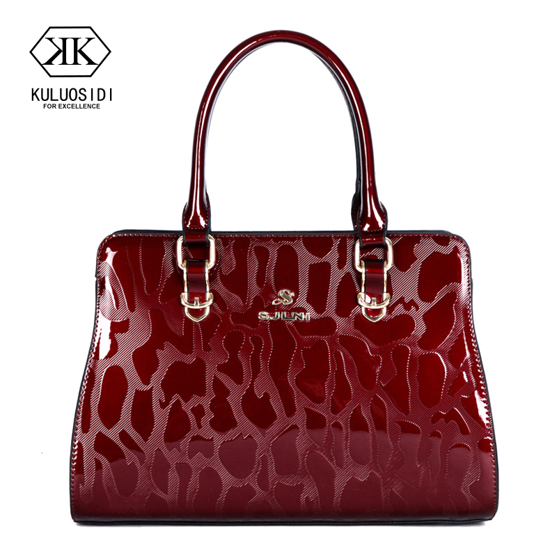 Shine Patent Leather Bag Luxury Handbags Women Bags Designer Brand Crossbody Bag For Women 2018 Sac