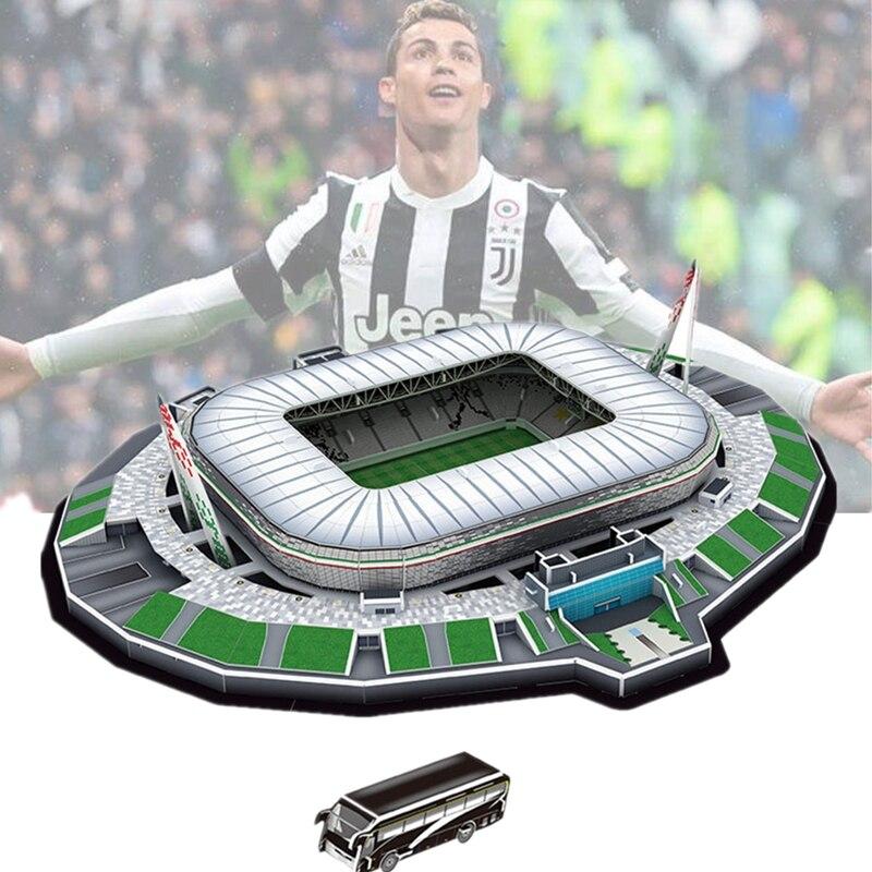 ¡Clásico rompecabezas DIY rompecabezas de Juventus F.C! Alessandro los estadios de fútbol de ladrillo juguetes modelos a escala de edificio de papel