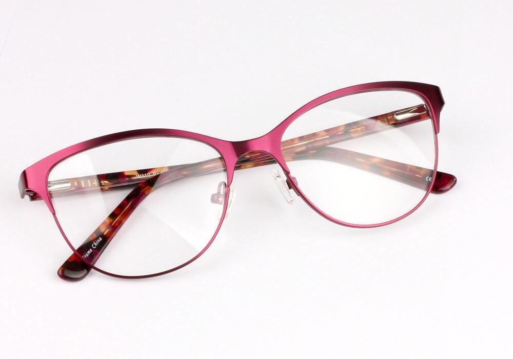 JIE.B Cat Eye Glasses Metal Frame Acetic Optical Men Vintage Myopia ...