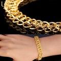 U7 círculos únicos banhado a ouro chain link bracelet atacado estilo de rock chain & ligação pulseiras mulheres homens jóias h485