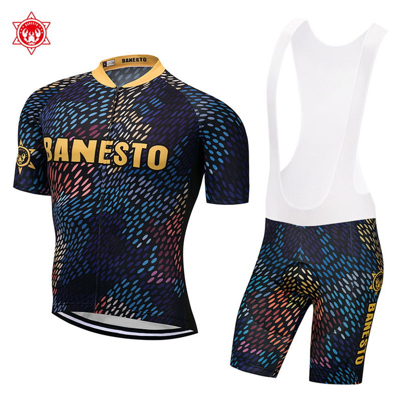 2018 New Team Summer Men's Cycling Jersey Sets Short Sleeve Clothing Breathable Mountain Bike Clothes Quick Dry Bicycle Set xintown summer breathable mens team short sleeve cycling jersey riding clothing polyester bike set fluorescent shark
