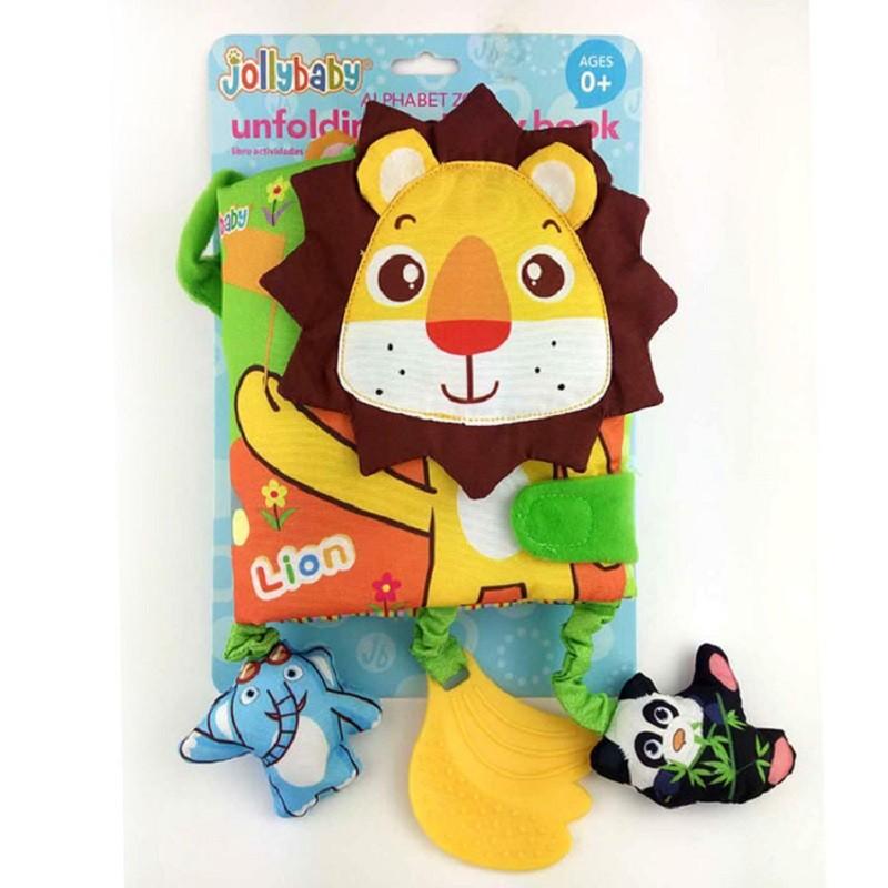 Infant Activity Book Cartoon Animal Soft Baby Educational Toy Cloth Book Plush Animal Story Intelligence Developing Toy KF030 14