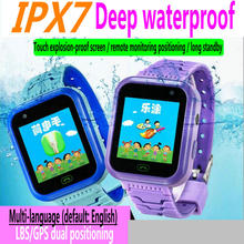 Childrens smart positioning watch  Color screen waterproof call childrens IPX7