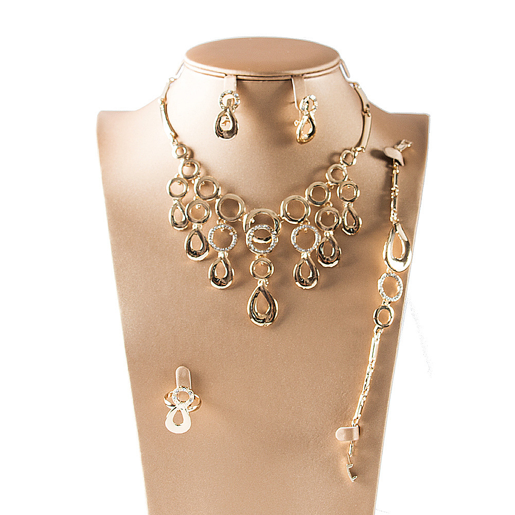 gold naj with light from necklace earrings weight jewels south design india