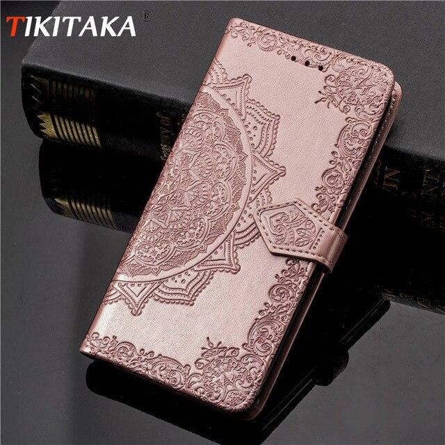 Tikitaka 花パターン化 Iphone XS 最大 8 プラス固体 Iphone6 用のカードスロットフリップカバー 6 s 7 プラス X10 財布ケース