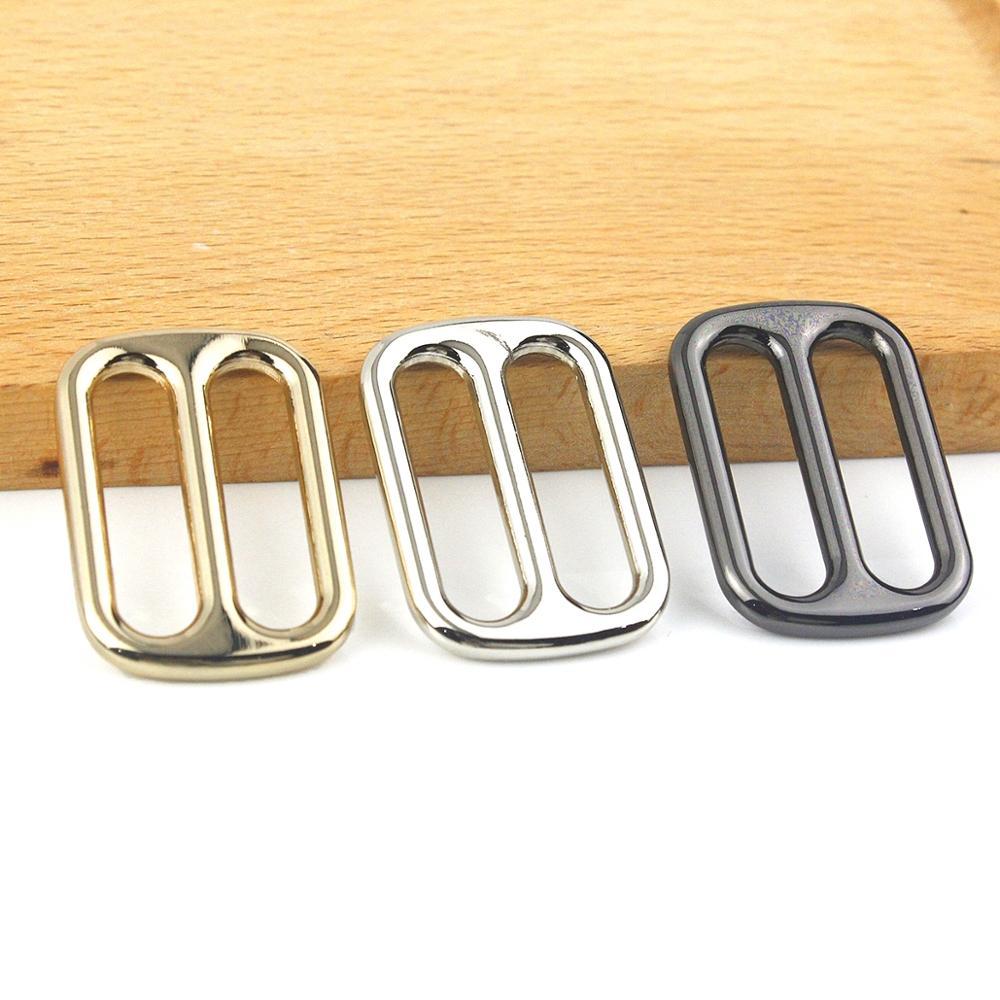Metal Slides Tri-glides Roller Pin Belt Buckle Handbag Web Strap Slider Adjuster