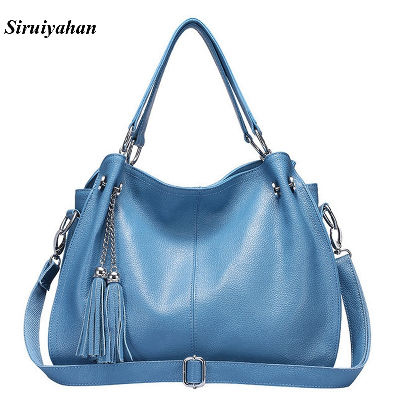 Siruiyahan sac en cuir véritable femme sacs à main femmes marques célèbres sacs à bandoulière femmes sac femme Bolsa Feminina