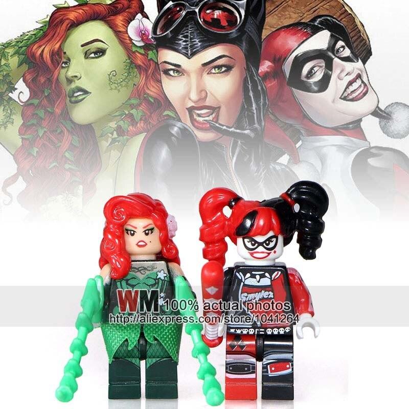 Toys & Hobbies Aggressive 2pcs/lot Justice League Super Hero Robin Harley Quinn Poison Ivy Batman Building Blocks Bricks Children Gifts Toys Drop Shipping Evident Effect Model Building