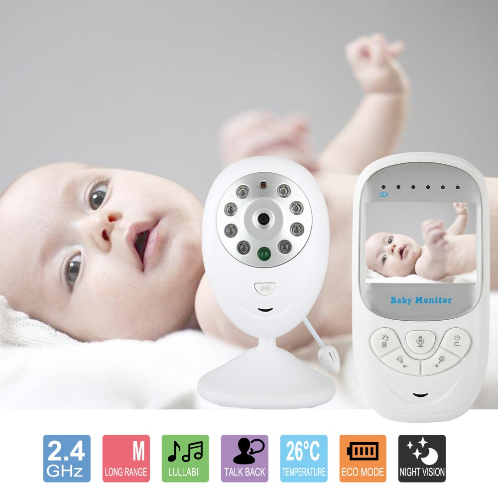 Babykam audio nanny baby monitor 2.4 inch LCD IR Night Vision Lullabies Temperature Monitor Baby Intercom video nanny baby alarm