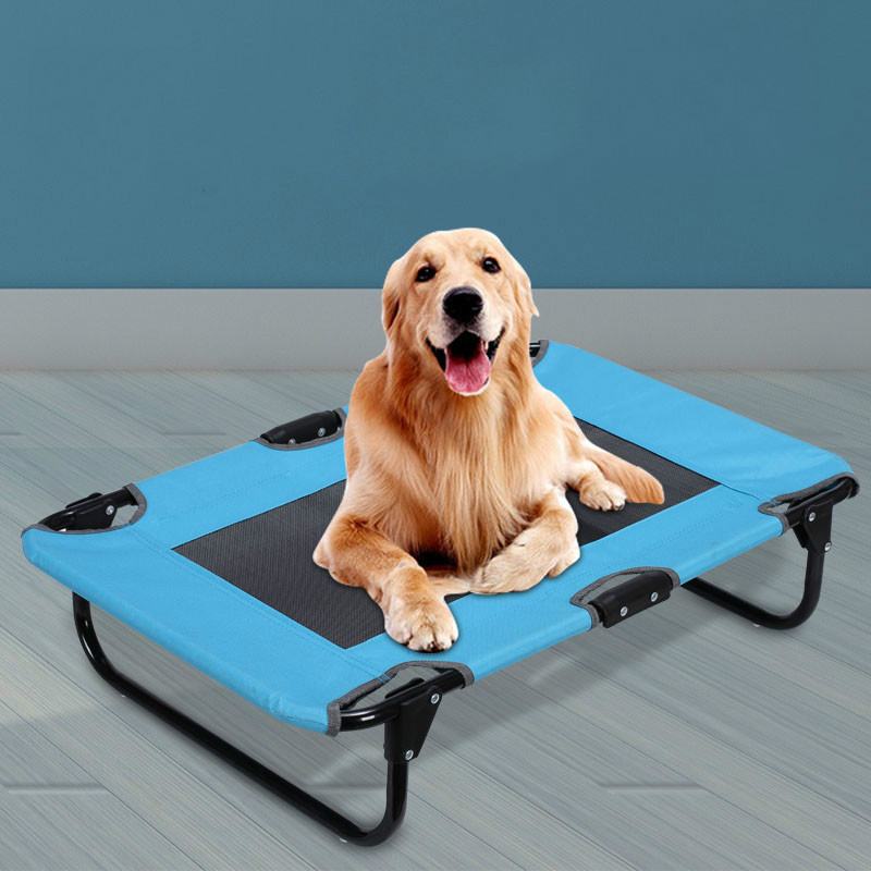 Pet supplies wrought iron removable and washable breathable dog mattress teddy golden hair pet portable folding bed ZP4121604