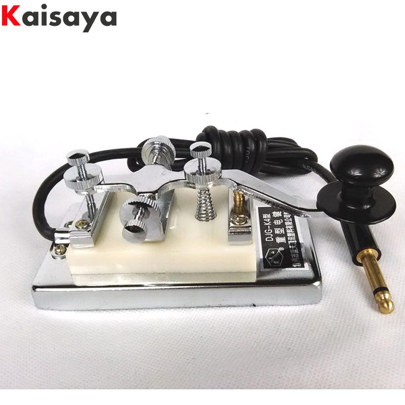 Military Room Escape movie props shortwave radio CW Morse telegraph key K4 K 4 heavy key