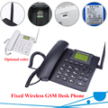 GSM fixed wireless phone Quadband SIM Card SMS Function Desktop Telephone Russian French Spanish Portuguese