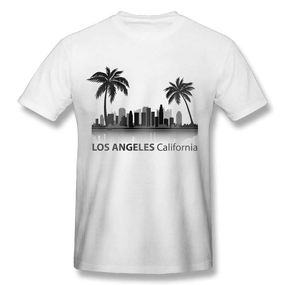 2017 california los angeles print t shirts men fashion for Bulk t shirts los angeles